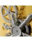 Coffre fort meuble de décoration plaqué or
