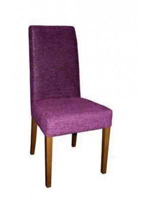 Chaise antiquaire tissu violet polis meuble de salle manger for Chaise quercus