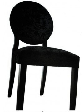 chaise velour noir