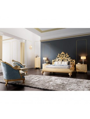 lit baroque et t te de lit de luxe capitonn e 2 personnes milan. Black Bedroom Furniture Sets. Home Design Ideas