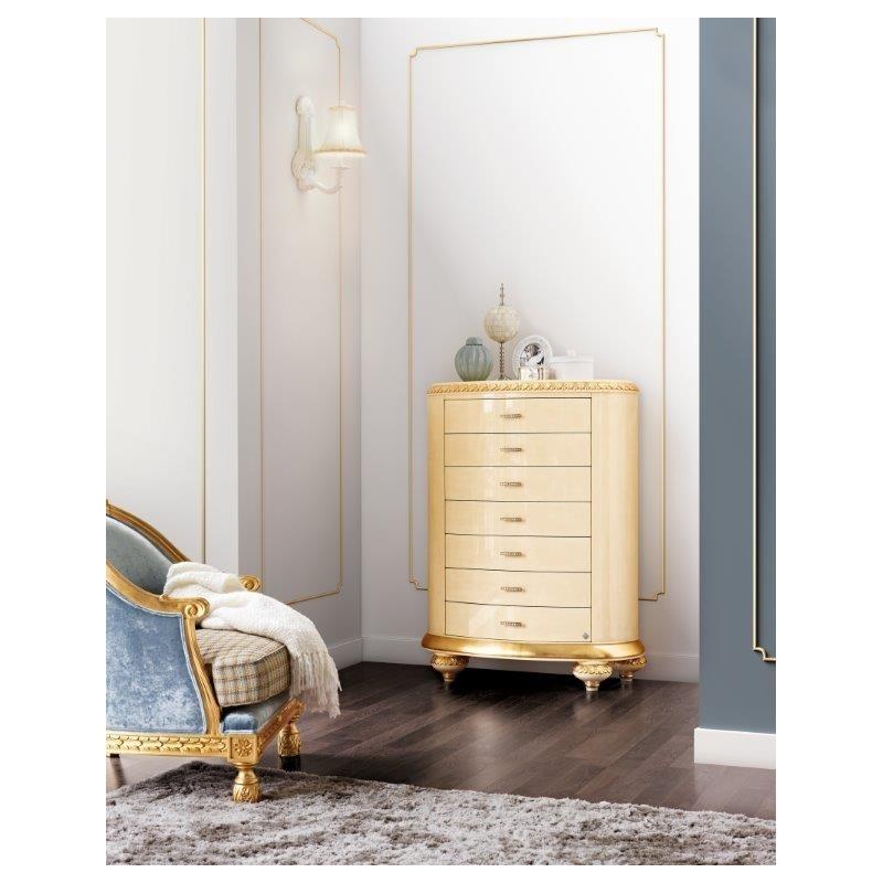 Commode baroque 7 tiroirs de luxe milan for Commode design luxe