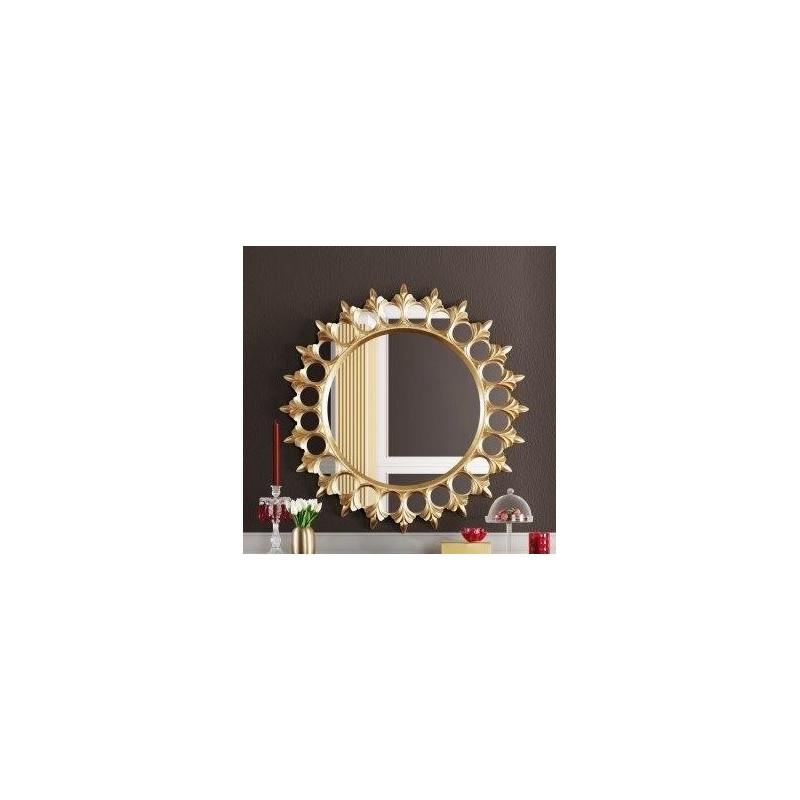 Miroir de luxe en forme de soleil 1900 or et argent for Miroir forme soleil
