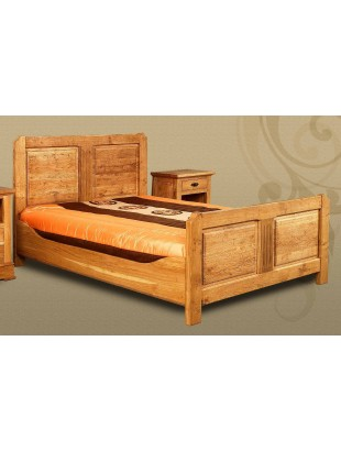 lit en ch ne clair 2 personnes ancar. Black Bedroom Furniture Sets. Home Design Ideas