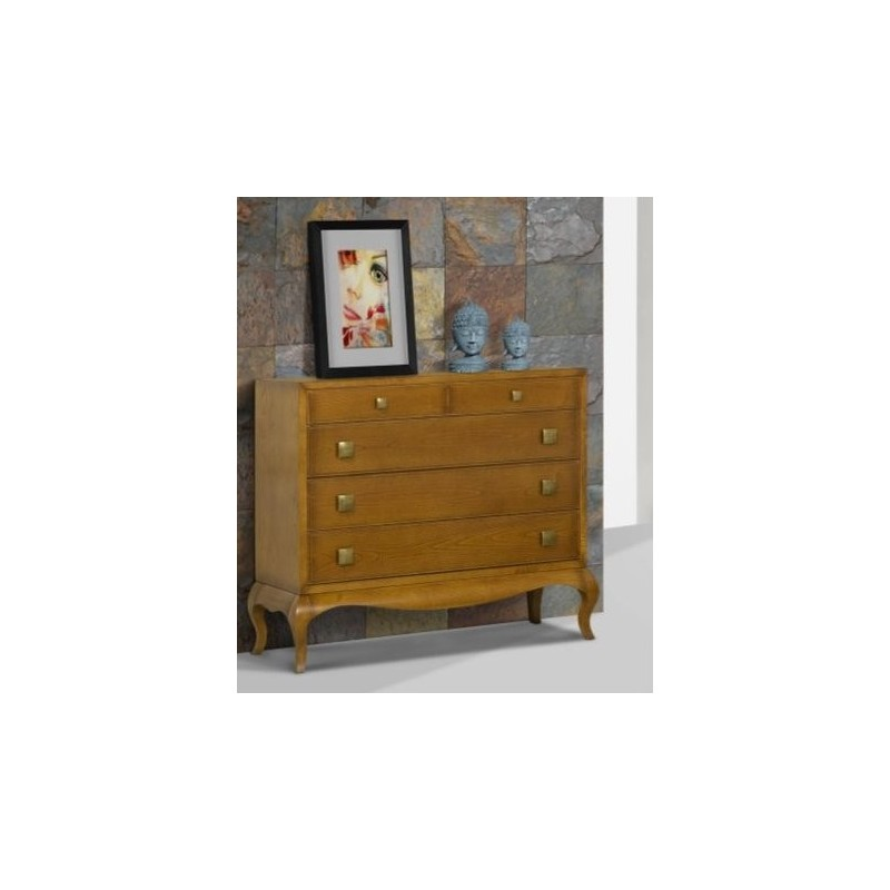 Commode antiquaire 5 tiroirs ch ne massif ruben dong hoi for Meuble antiquaire