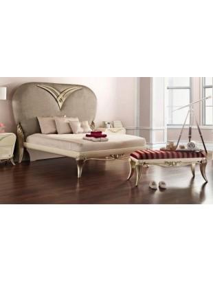 lit et t te de lit capitonn e de luxe marron 2 personnes 1900. Black Bedroom Furniture Sets. Home Design Ideas