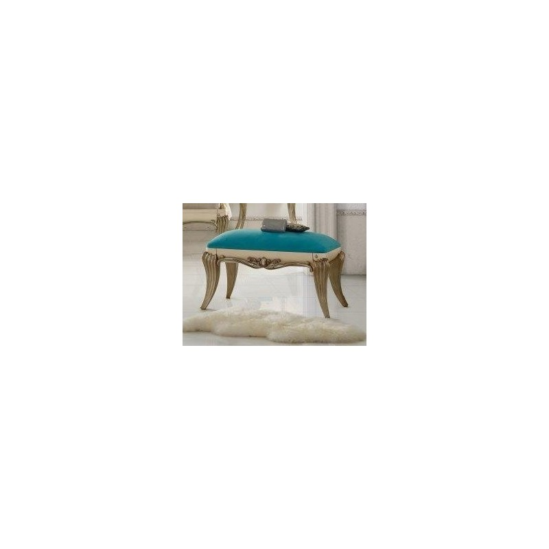 banquette de lit tissu bleu de luxe 1900 or et argent. Black Bedroom Furniture Sets. Home Design Ideas